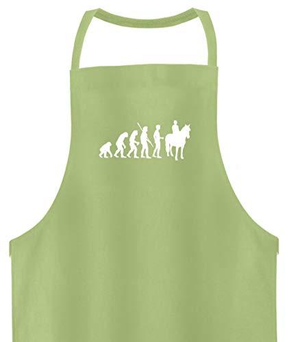 shirt-o-magic Pferde: Evolution Reiter - Hochwertige Grillschürze -Einheitsgröße-Pastel Lime