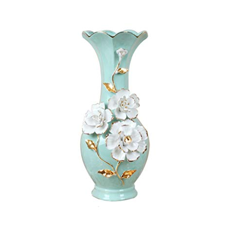 NYKK Vases Modern Minimalist Home Decoration TV Cabinet Porch Ornament Flower Flower Arrangement Ceramic Floor Living Room Dining Table Vase   Painted After Diluting Gold Into Water Desktop Vase