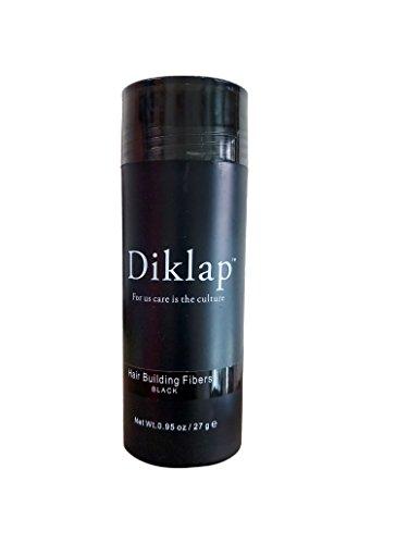 Diklap Hair Building Fiber, Black, Natural Keratin Hair Building Fiber for Men and Women 27g