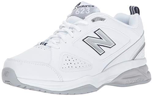 New Balance Women's 623v3 Comfort Training Shoe, White/Navy,...