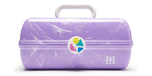 Caboodles On-The-Go Girl Retro Case, Lavender Marble