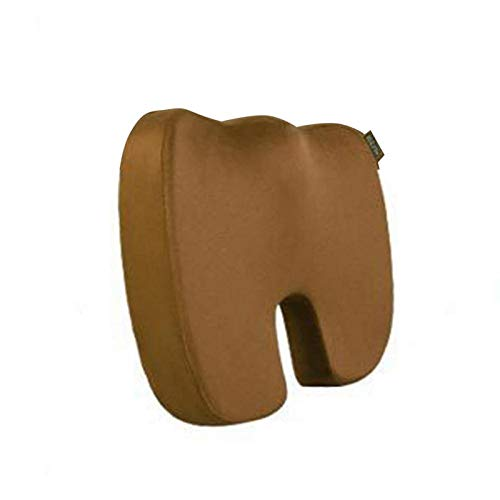 Toiong Pure Memory Foam Coccyx Seat Cushion for Office Seat Cushion U type-coffee