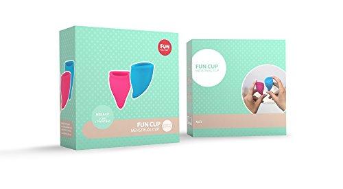 FUN FACTORY FUN CUP SIZE A – Zwei Menstruationstassen inkl. Tasche Silikon ( Rosa/Türkis ) - 6