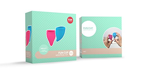 FUN FACTORY FUN CUP SIZE A – Zwei Menstruationstassen inkl. Tasche Silikon ( Rosa/Türkis ) - 3