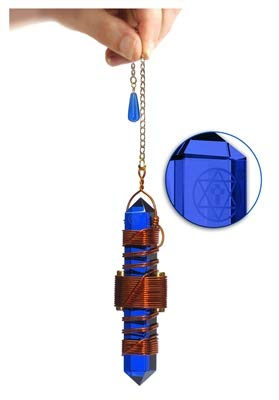"Crystal Pendulum Healing Tool - Buddha Maitreya the Christ 3.5"" Etheric Weaver®"