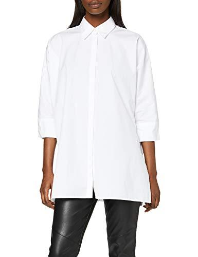 BOSS Damen Erilda Bluse, Weiß (White 100), (Herstellergröße: 44)