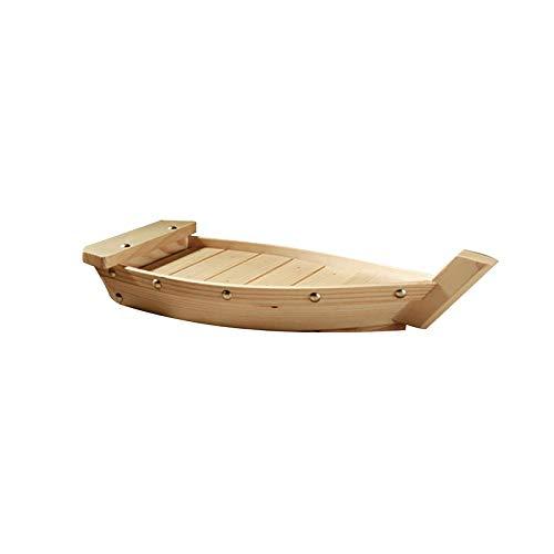 Wooden Sushi Boat Sushi Serving Tray Plate Japanese Sashimi Sushi Display Boat for Home Restaurant