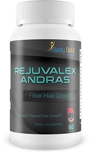 Rejuvalex - Andras Fiber - Hair Growth - Support Natural Hair Growth - with Vitamin B3 (Niacin) and a Powerful Proprietary Hair Blend. Help Prevent Hair Loss and Support Natural Hair Regrowth