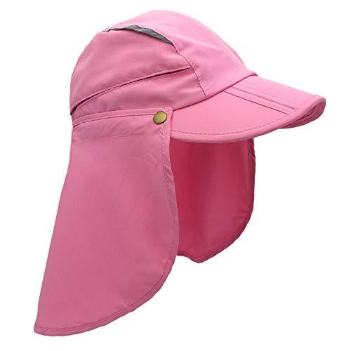 Home Prefer Child Kids Girls Wide Brim UPF 50+ Airy Mesh Baseball Caps Sun Protection Hats Pink