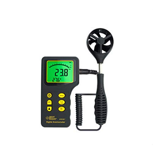 Zcyg Anemómetro Medidor Velocidad Viento Medidor de Viento de medición de Velocidad Digital de Mano, Dispositivo for helicóptero Windsurf Kite Flying Sailing Surfing Pesca
