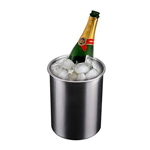 Cubo de Hielo Aislante Cubo de hielo Cubierta de doble pared Cueva Cerveza Refrigerador Beber Botella Mantenible Botella de vino Refrigerador Barras Suministros Suministros de acero inoxidable Herrami