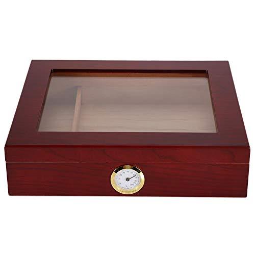 Garosa Zigarren-Humidor-Koffer, Zigarren-Aufbewahrungsbox mit Hygrometer und Luftbefeuchter Solider hochwertiger Palisander-Zigarren-Humidor für 25-50 Zigarren