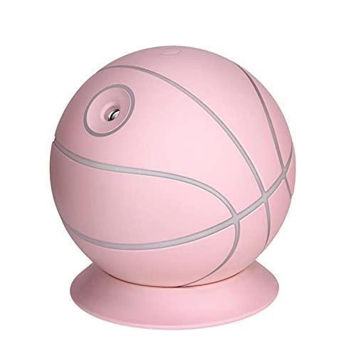 Humidificador de Aire Humidificadores Difusor Vaporizador Silencioso Bebes Aceites Esenciales para Habitacion con Luz Baloncesto USB Hogar Silencio Cuarto Aire Aromaterapia,Pink
