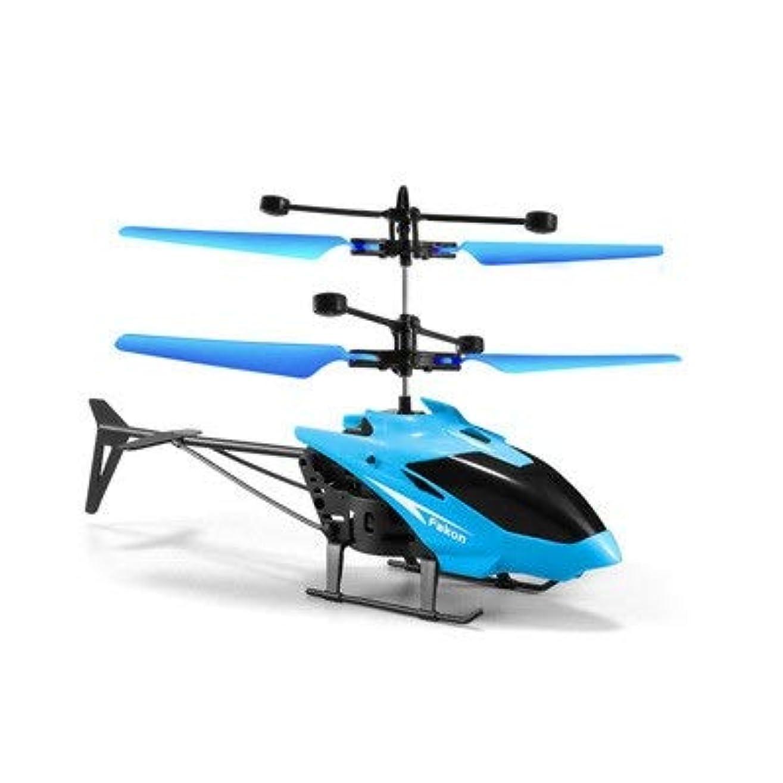 ブローホール簡単な確実リモートコントロールプレーン インテリジェントなリモートコントロールヘリコプタードロップ耐性サスペンションリモートコントロール小型機小学生リモートコントロール航空機 子供のリモコンカー (Color : Blue, Size : 20x16cm)