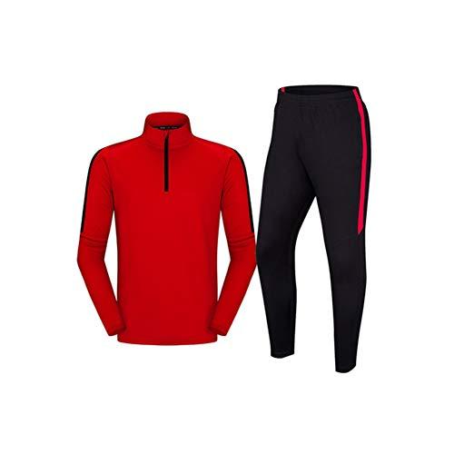 Fussball Trainingsbekleidung Frühling Herren Damen Rot Trikot Kinder Sportanzug Fitness Training Fußball Trainingsbekleidung Polyester Polyester Material (S-4XL) XXXXL farbe