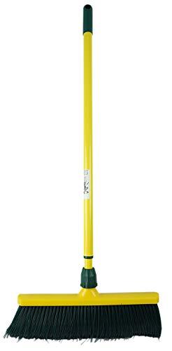 Novaliv Krallenbesen Set 30 cm Kunststoff mit Teleskopstiel gebogenen Borsten Gartenbesen Straßenbesen Kehrbesen Laubbesen (1, 30 cm Besen mit Stiel)