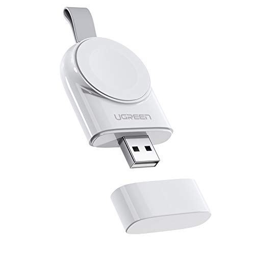 Cargador para Apple Watch (MFI Certificado), UGREEN Cargador Portátil Magnético iWatch, Base Carga Inalámbrica para Apple Watch Series 5/4/3/2/1, Apple Watch Nike+, Apple Watch 38mm/42mm/44mm, Blanco