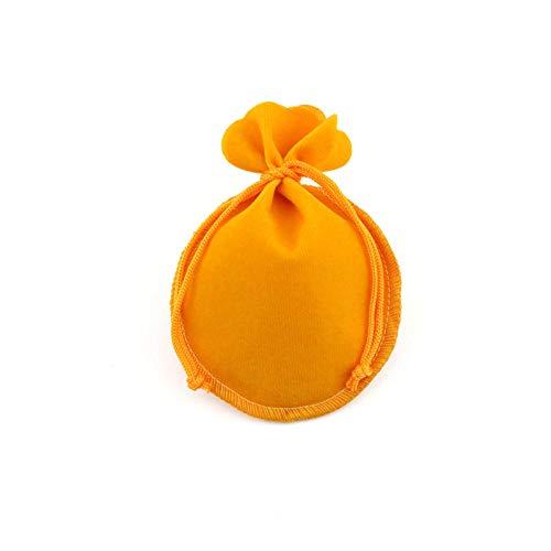 50 piezas bolsa de joyería bolsa de embalaje de terciopelo bolsas de regalo con cordón utilizadas para la bolsa de publicidad de dulces de boda-amarillo_Los 7x9cm