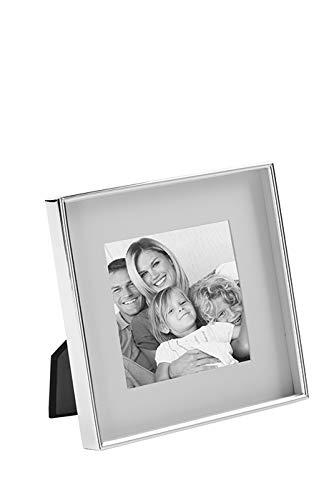 Fink Fotorahmen Bilderrahmen Kim - versilbert zum Stellen Hängen Format 10x10 cm