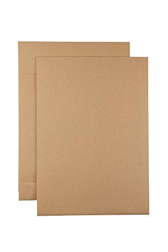 250 Faltentaschen B4, haftklebend, braun mit 4cm Falte
