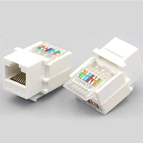 Adaptador de cable sin herramientas RJ45 CAT5E / CAT6 UTP de 5 piezas, para conector de módulo de enchufe de cable de red Ethernet (CAT6)