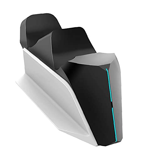 Cargador del Control PS5 inalámbrico de Alta Velocidad PS5 Controlador de Estación de Carga del Muelle del Cargador Dual PS5 con indicador LED Blanco