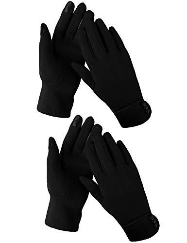 Aibrou touchscreen handschoenen dames winterhandschoenen fietsschoenen vrouwen handschoenen winter warme handschoenen met fleece voering in rood, zwart en grijs