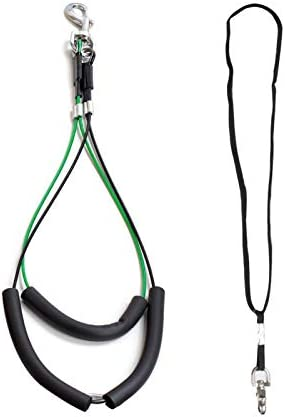 CHAOLUN No Sit Haunch Holder and a Nylon Ajustable Dog Grooming Loop Noose for Small Medium product image