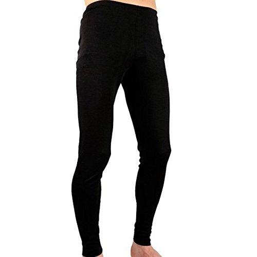 marcha Caleçon Long Noir Homme 100% Coton T60 Froid Sport Hiver Montagne sous-vêtement