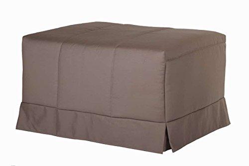 Quality Mobles - Cama Plegable Individual de 90x190 cm Funda Color visón