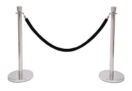 VIP Set Zylinder schwarzer Edelstahl Ständer mit Kordel Disko Geburtstag Hochzeit Veranstaltung