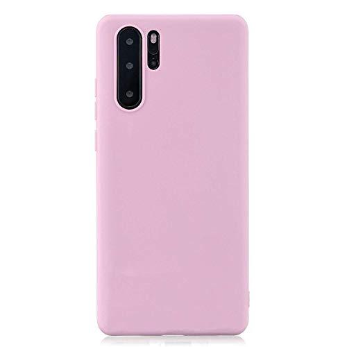 cuzz Custodia Huawei P30 PRO+{Film di Vetro temperato}Silicone TPU Cover Morbida Protettiva Custodia Ultra Sottile Leggero Cover-Rosa Scuro