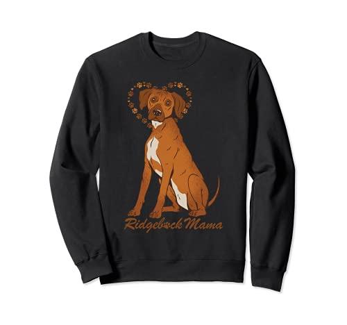 Dulce perro ridgeback aman Hundemama Sudadera