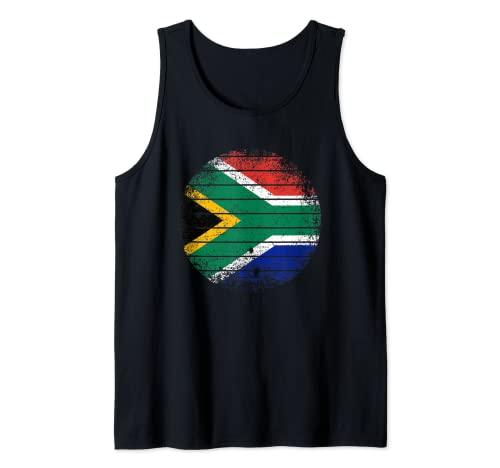 Sudáfrica Vintage Sudafricana Bandera áspero Camiseta sin Mangas