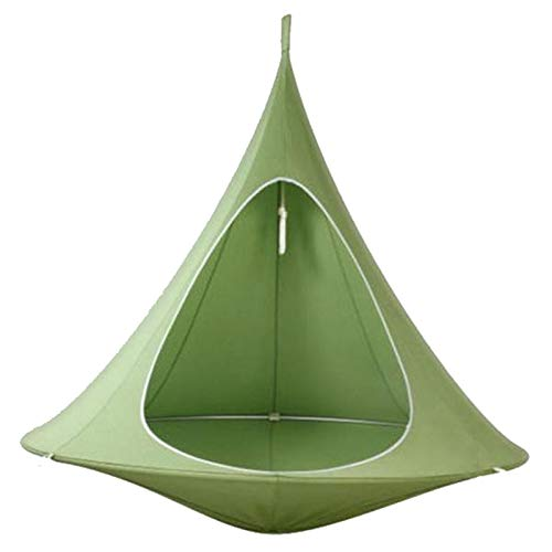Backyard & Park Swing Hammock,Hanging Tree Tent,Hanging Cocoon with Pocket,for Indoor and Outdoor Fun, Reading, Relaxation, Sensory and Autism Therapy