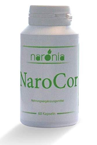 NaroCor - Grüner Tee (EGCG), Aronia (Anthocyanidine), Resveratrol, Quercetin, Vitamin B12, Vitamin B6-60 Kapseln - 100% Vegan