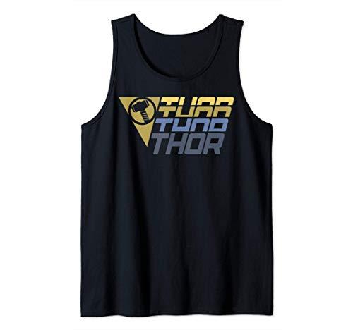 Marvel Thor Moto-Sport Badge Logo Camiseta sin Mangas