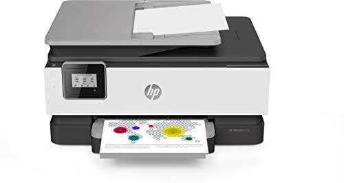 HP OfficeJet 8013 Thermischer Tintenstrahldrucker, 18 ppm, 4800 x 1200 DPI, A4, WLAN, Multifunktionsgerät (Thermo-Tintenstrahl, 4800 x 1200 DPI, 225 Blatt, A4, Direktdruck, Grau)