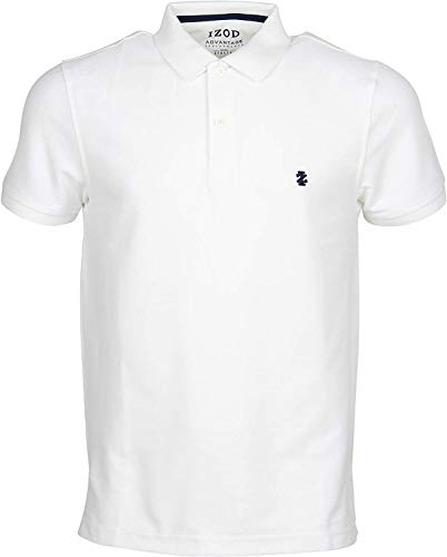 IZOD Herren Performance Pique Polo Shirt, Weiß (Bright White 116), Large