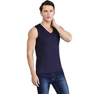 JapHot インナーシャツ 冷感 タンクトップ 接触冷感 肌着 Vネック ノースリーブ シームレス 吸汗速乾 抗菌消臭 伸縮性 UVカット スポーツ フィットネス
