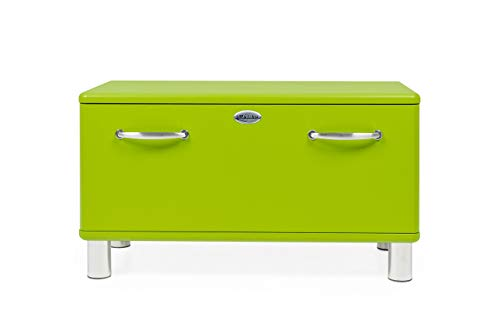 Tenzo 5291-021 Malibu Designer Garderobenbank Holz, grün, 41 x 86 x 47 cm