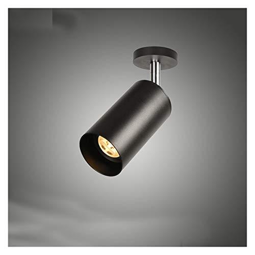 YZZ Bronce Blanco Blanco Vintage Industrial Wall Sconence Lights Retro Lámpara de Pared 110V-220V 240V GU10 Tienda de Dormitorio Interior Bar Aisle Lámpara (Oro) (Color : Black)