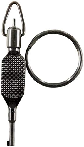 ZAK Tool ZT-9P Flat Knurled Swivel Key, Black