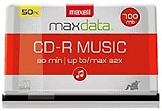 Maxell 625156 Premium Quality Recording Surface Recordable CD (Audio Only) for Noise Free Playback and CD Drive Playback