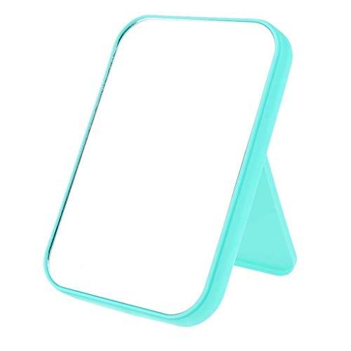 LYMUP Espejo Moderno de Moda de Alta definición HD Maquillaje Espejo de Maquillaje Espejo de Escritorio Espejo de baño agrandar (Color : Green, Size : As described)
