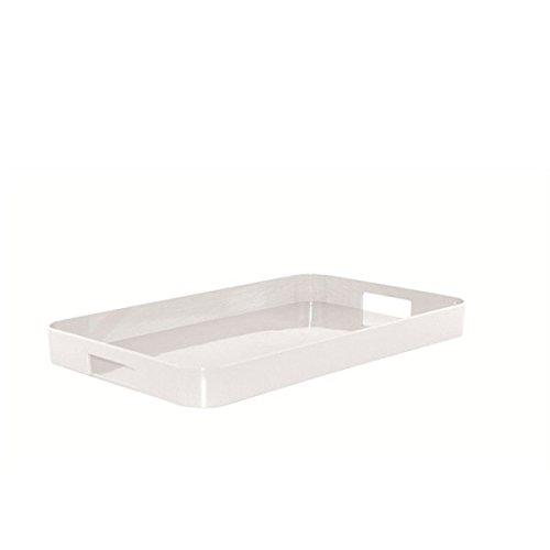 Zak Designs ZAK Gallery Tablett S, 33 x 26 cm, weiss