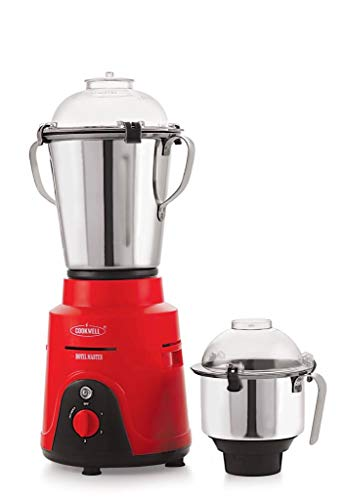 COOKWELL 2 HP Hotel Master Commercial Mixer Grinder, 1500W (Red and Black)