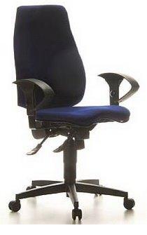 Topstar Chaise de bureau/chaise de Sydney Pro plastique bleu
