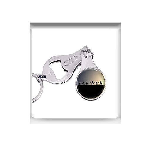 bab Camel Caravan Desert Taschenuhr Halskette – Marokko-Schmuck – Kamelschmuck – Wüste Wohnwagen Nacht Romantik – Nachtwüste – Sahara Wüste Nagelschneider Nagelschere
