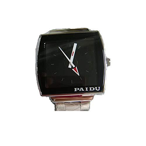 Negro Cara paidu Reloj de Cuarzo para Hombre del diseño Fresco Punky del Reloj de los Hombres Reloj de Pulsera